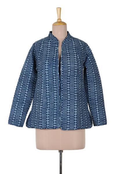 Hand Crafted Indian Indigo Cotton jacket