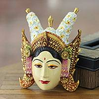 Wood mask, 'Beautiful Legong Dancer'