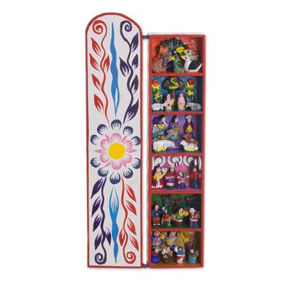 Retablo, 'Scenes from My Land' - Handcrafted Religious Retablo Diorama Andean Folk Art