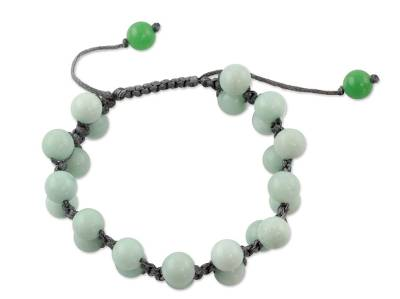 Amazonite Shambhala-style bracelet,