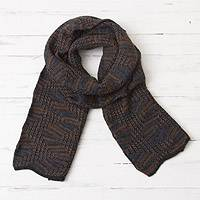 100% alpaca scarf, 'Warm Waves'