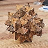 Wood puzzle, 'Great Star'