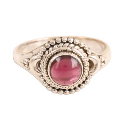 Garnet cocktail ring,