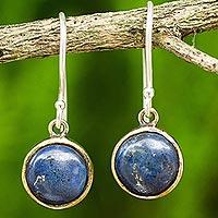 Lapis lazuli dangle earrings, 'Early Sun'