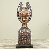 Wood sculpture, 'Obaapa'