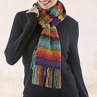 100% alpaca scarf, 'Andean Twilight'