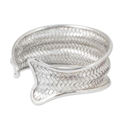 Fish Shape Silver Cuff Bracelet Handmade Hill Tribe Jewelry