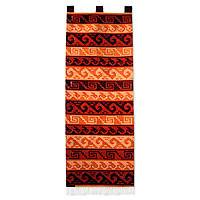 Wool tapestry, 'Ancient Symbols' - Wool tapestry