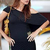 Blouse, 'Baiana Belle in Black' - Blouse