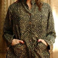 Reversible silk jacket, 'Hypnotic' - Reversible silk jacket