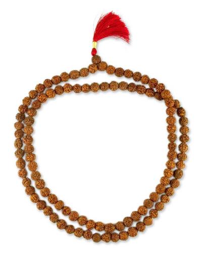 Rudraksha seed jap mala prayer beads, 'Pray' - Rudraksha seed jap mala prayer beads