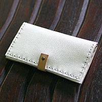 Leather wallet, 'Urban White' - Leather wallet
