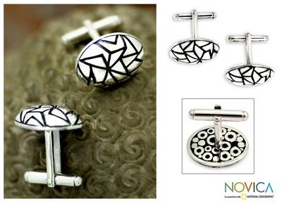 Sterling silver cufflinks, Puzzle
