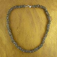 Labradorite beaded necklace, 'Intuitive' - Labradorite beaded necklace
