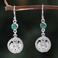 Chrysocolla dangle earrings, 'Inca Star Walker' - Chrysocolla dangle earrings
