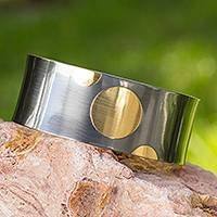 Gold plated cuff bracelet,