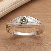 Peridot solitaire ring, 'A Promise'