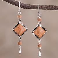 Jasper dangle earrings,
