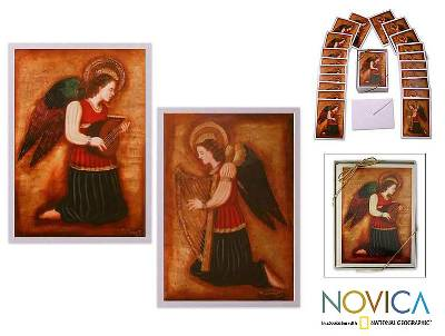 'The Angels' box of 20 blank greeting cards
