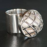 Pearl cocktail ring, 'Sugar and Spice' - Pearl cocktail ring