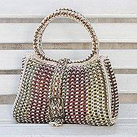 Soda pop-top handbag, 'Twin Power' - Soda pop-top handbag