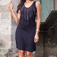 Jersey dress, 'Ebony Shimmy' - Jersey dress