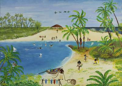 'Holidays' - Beach Scene Fine Art Painting