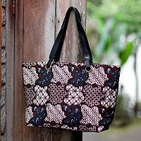Cotton batik shoulder bag, 'Worldwide Legend' - Cotton batik shoulder bag