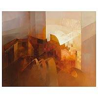 'Urban Forms' - Abstract Painting from Peru