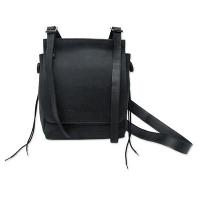 Novica Leather messenger bag, Basic Style
