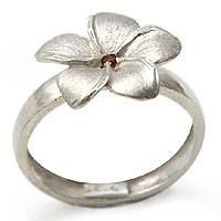 Rhodolite flower ring, 'Tropical Glow' - Rhodolite flower ring
