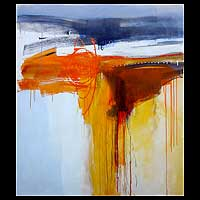 'The Morning Sunrise' (2005) - Abstract Acrylic Painting