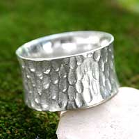 Balinese silver rings - Handcrafted Hill Tribe Sterling Silver Band Ring