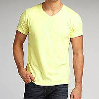 Men's organic cotton t-shirt, 'Perfect Endive' - Men's 100% Organic Cotton T-shirt Low Impact Yellow Dyes