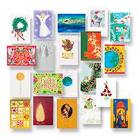 Holiday assorted greeting cards, 'Holiday Collection' (set of 20) - UNICEF Assorted Holiday Cards Boxed Set