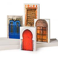 Greeting cards, 'Ancient Doorways' (set of 12) - UNICEF Any Occasion Boxed Card Set