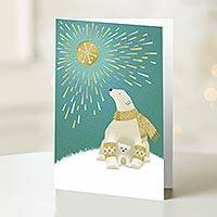 UNICEF holiday cards, 'Arctic Sunbath' (set of 12) - UNICEF Holiday Cards Boxed Set