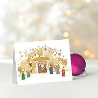 UNICEF holiday cards, 'Golden Nativity' (set of 12) - UNICEF Holiday Cards Boxed Set