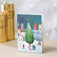 Town Tree UNICEF Cards - UNICEF Holiday Cards Boxed Set