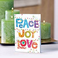 UNICEF holiday cards, 'Peace, Joy, Love' (set of 12) - UNICEF Holiday Cards Boxed Set