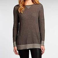 Organic cotton tunic, 'Graphite Cloud' - Women's Grey 100% Organic Cotton Tunic Sweater Top