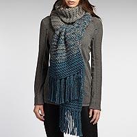 Alpaca and wool blend scarf, 'Steel Melange' - Warm Alpaca and Wool Blend Scarf Knitted by Hand
