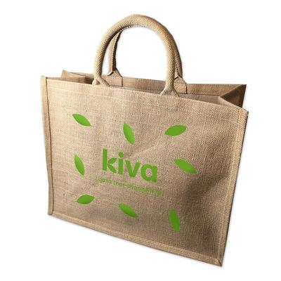 Kiva jute bag, 'Rustic Tote' - Kiva jute bag