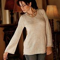 Alpaca blend sweater, 'Charisma' - Artisan Crafted Alpaca Wool Blend Pullover Sweater