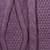 100% alpaca scarf, 'Dusty Lilac Braid' - Dusty Lilac 100% Alpaca Scarf Diamond Motif from Peru (image 2e) thumbail