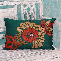 Cushion cover, 'Mumbai Mod' - Cushion cover