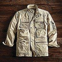 Men's convertible jacket, 'Backwoods Adventure' - Convertible Travel Jacket