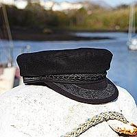 Men's wool blend hat, 'Ionian Sea' - Greek Fisherman Hat