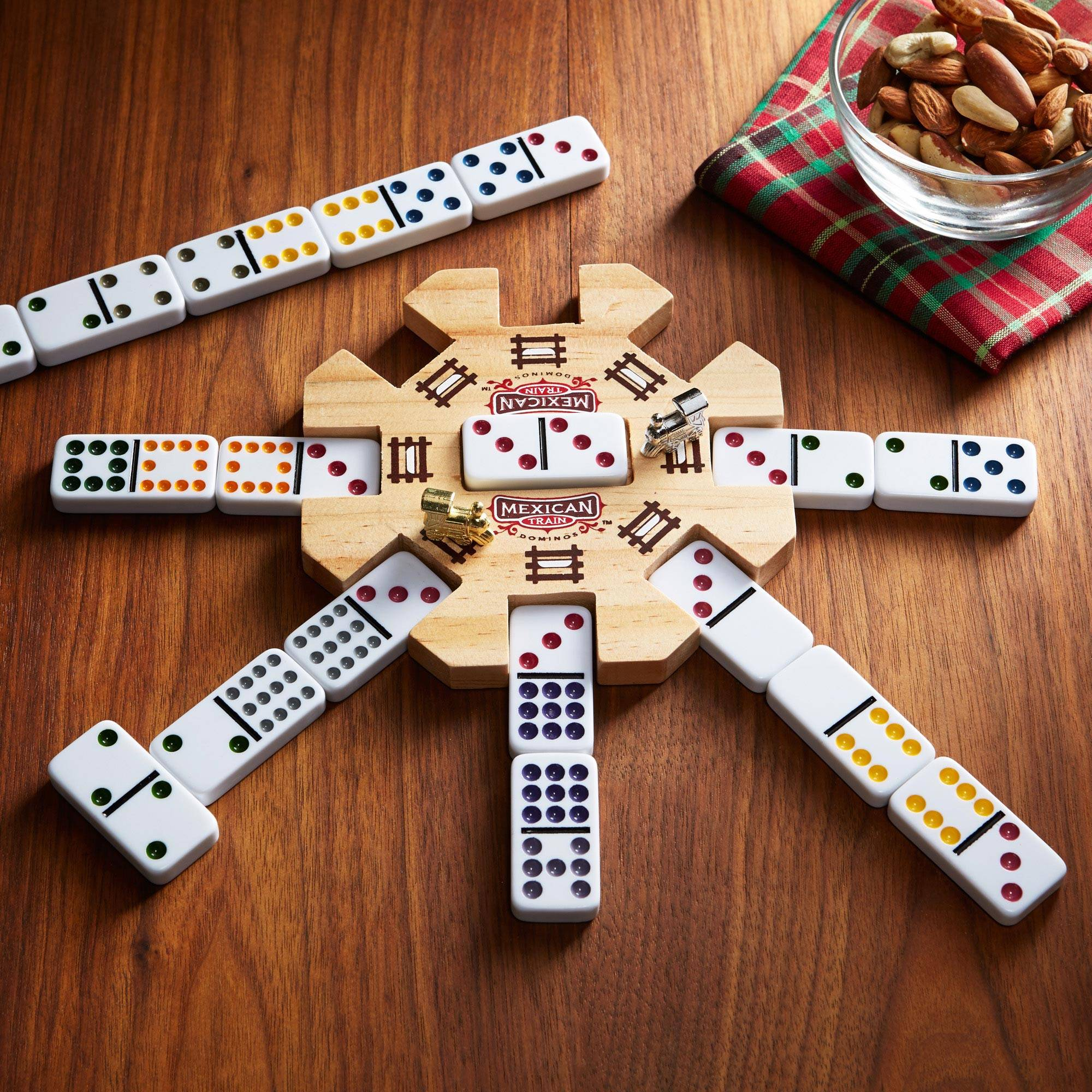 Mexican Train Dominoes Station Master Novica