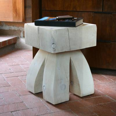 Pine accent table, 'Santa Fe Style' - New Mexico Pine Table